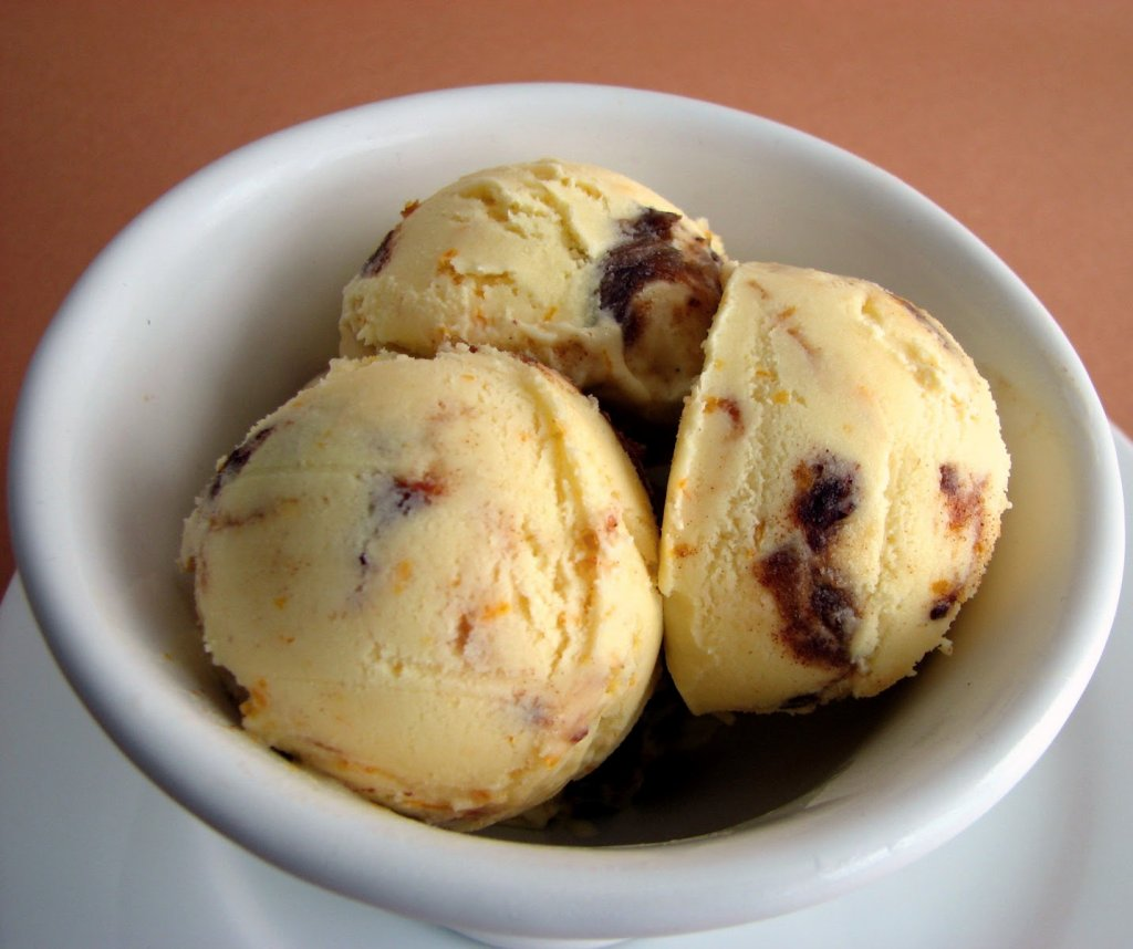 Orange Date Ice Cream
